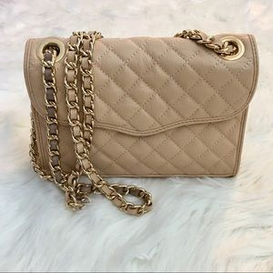 Rebecca Minkoff Tan Quilted Affair Shoulder Bag